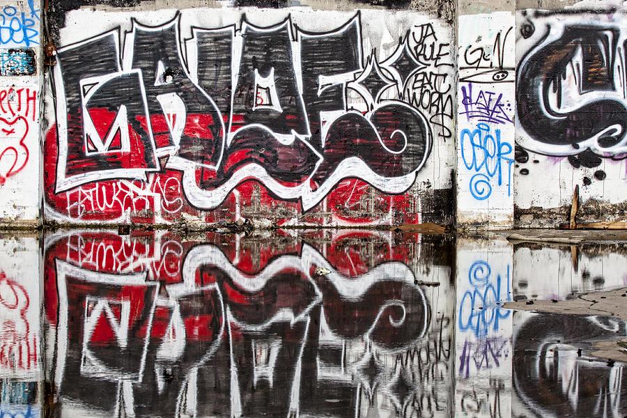 Graffiti Photograph - Graffiti by Carol Leigh