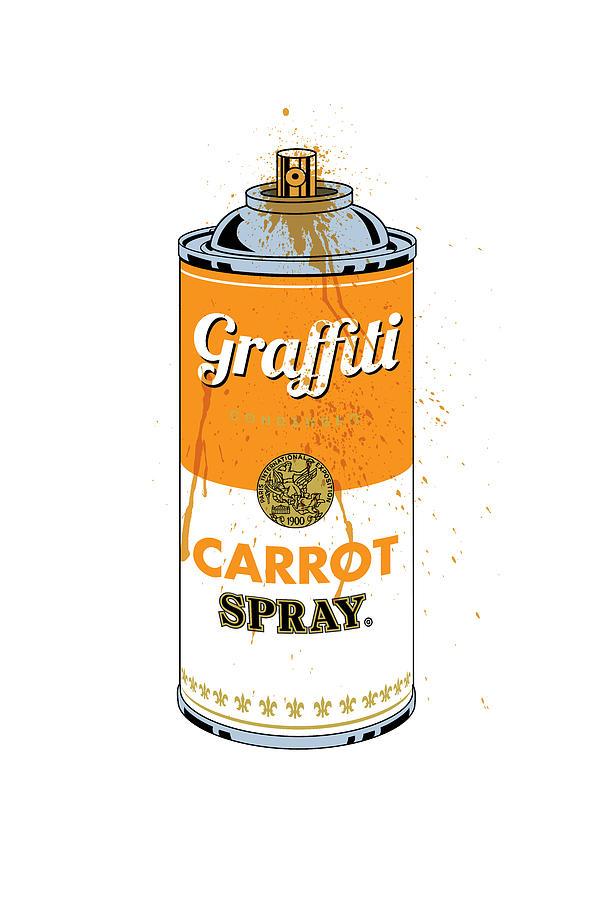 Graffiti Carrot Spray Can by Gary Grayson