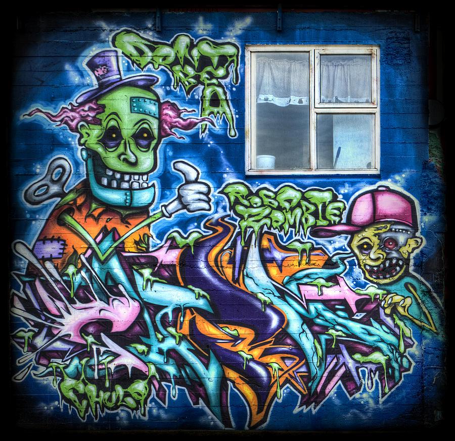 Graffiti Photograph - Graffiti City by Evelina Kremsdorf