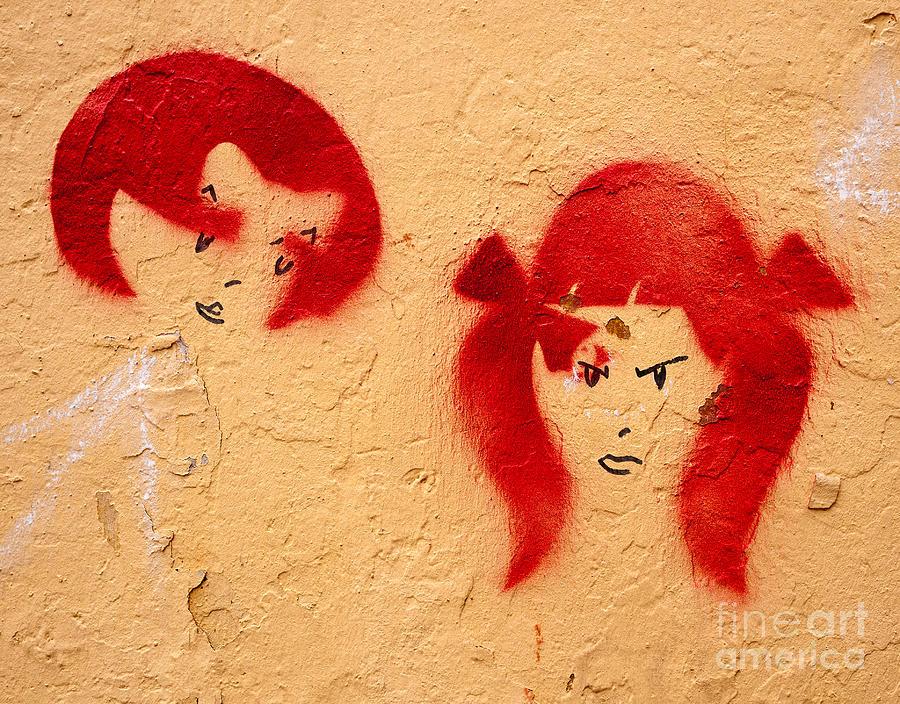 Turkish Photograph - Graffiti Girls 02 by Rick Piper Photography
