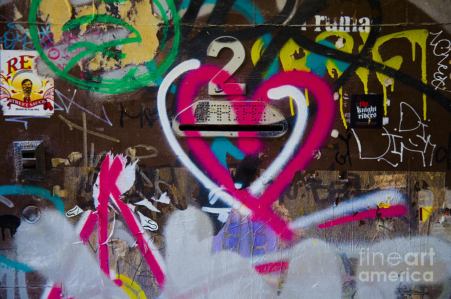 Color Photograph Photograph - Graffiti Heart by Victoria Herrera