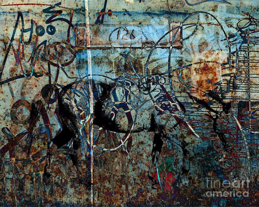 Horse Digital Art - Graffiti Horse Blues by Judy Wood