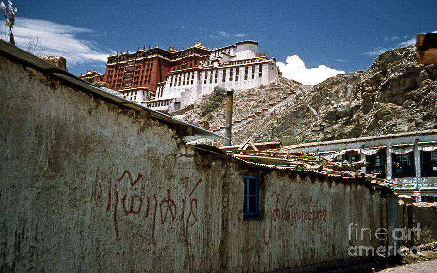Lhasa Photograph - Graffiti In Lhasa by Scott Shaw