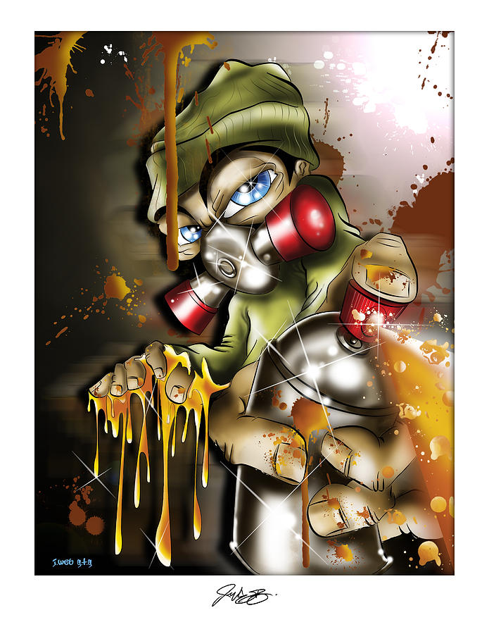 Graffiti Digital Art - Graffiti Is An Addiction by John Webb