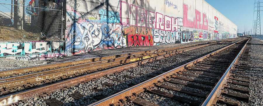Horizontal Photograph - Graffiti On The Wall, Tenth Street by Panoramic Images