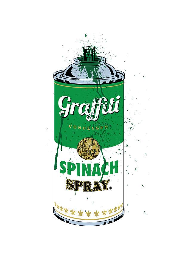 Graffiti Spinach Spray Can by Gary Grayson