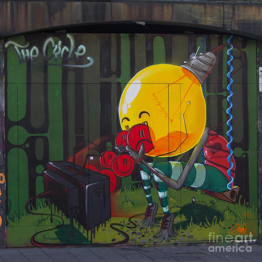 Graffiti Photograph - Graffiti Stokes Croft by Brian Roscorla