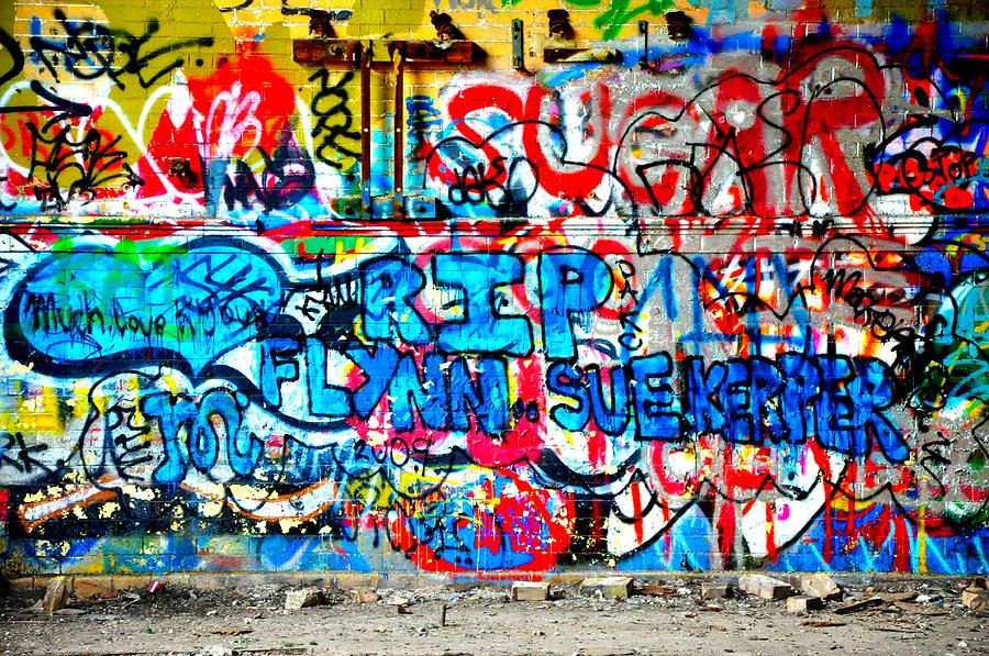 Graffiti Photograph - Graffiti Street by Bill Cannon