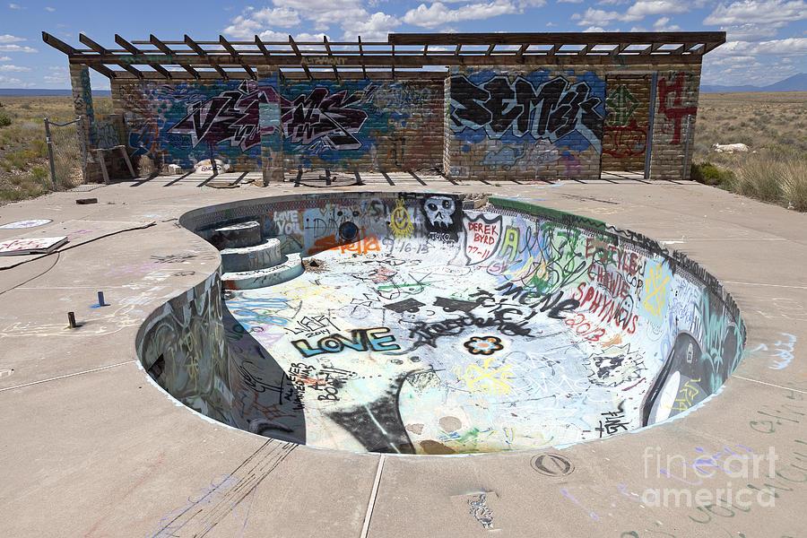 Grafitti Pool At Two Guns Arizona Photograph