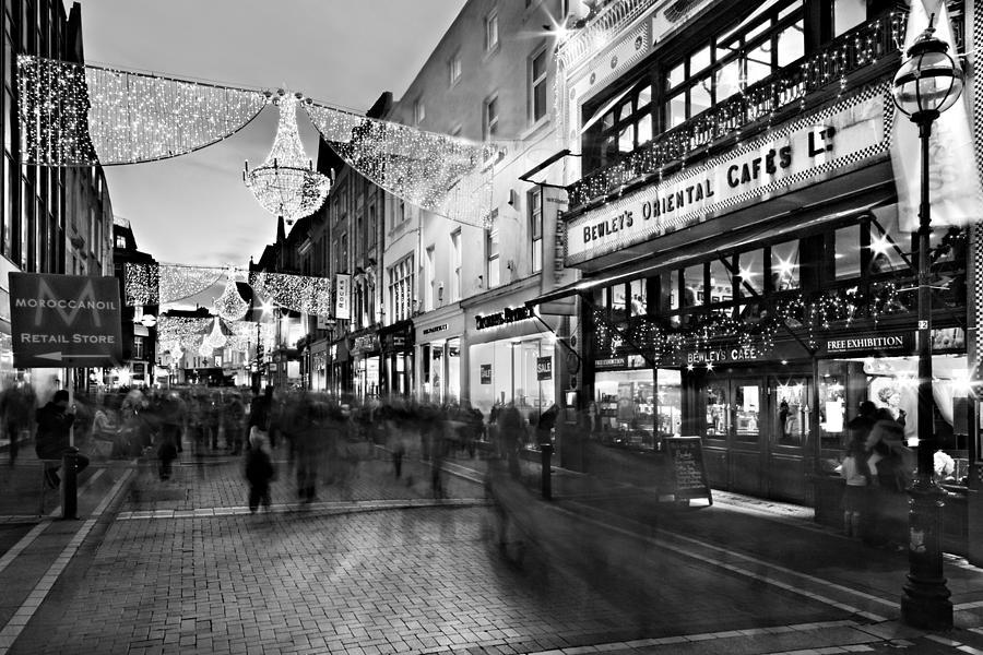 Grafton Street at Night / Dublin by Barry O Carroll