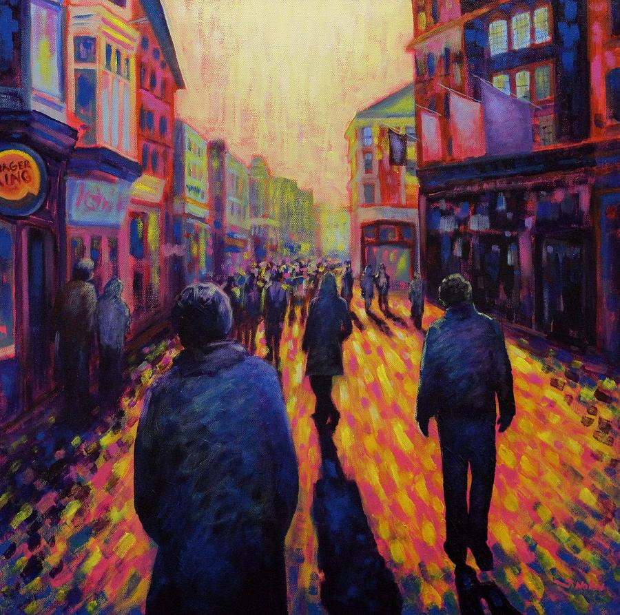 Dublin Painting - Grafton Street Dublin by John  Nolan