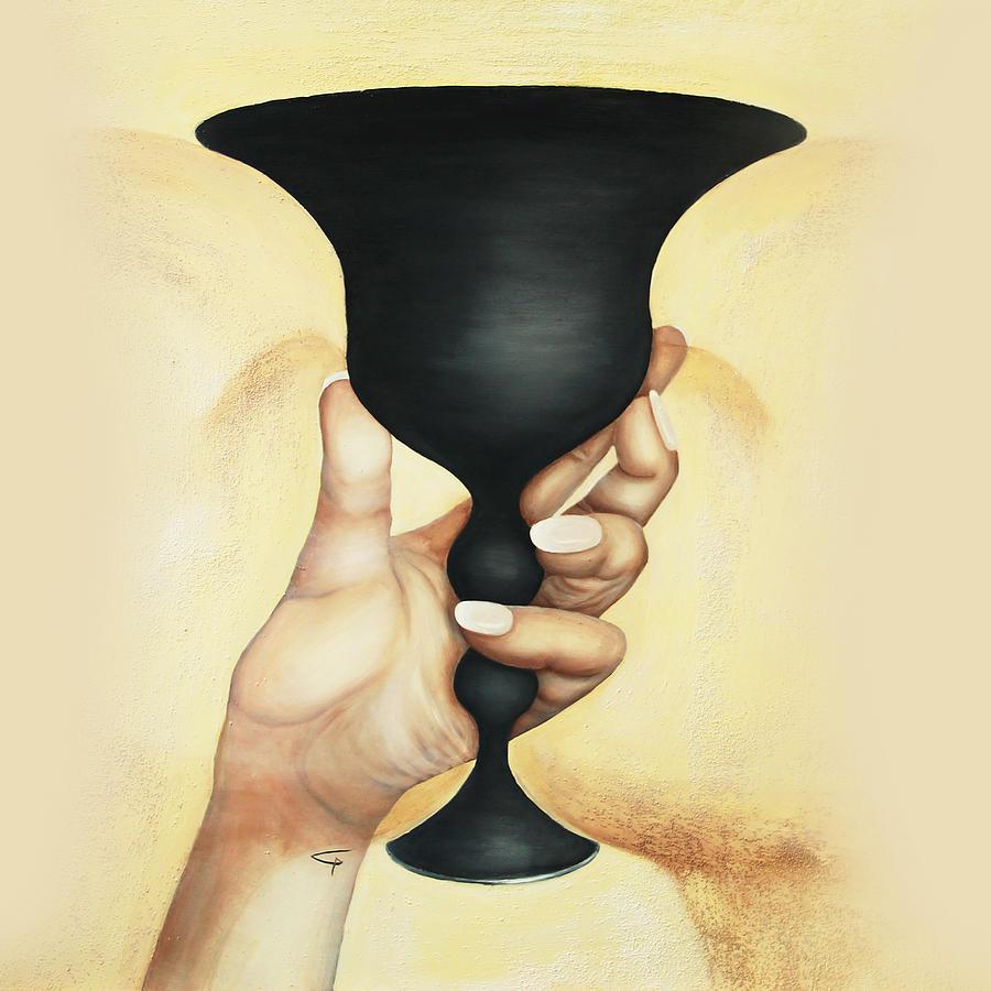 Hand Painting - Grail by Gabriela Maria PASCENCO