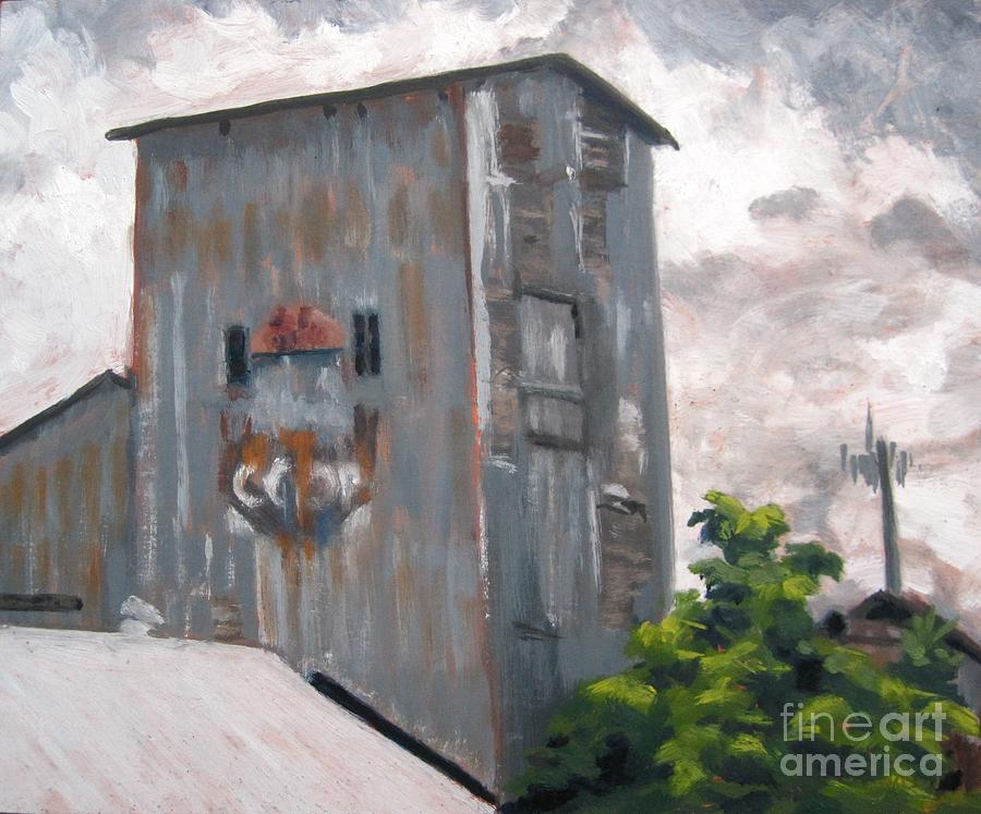 Grain Elevator and Cell Tower by Katrina West