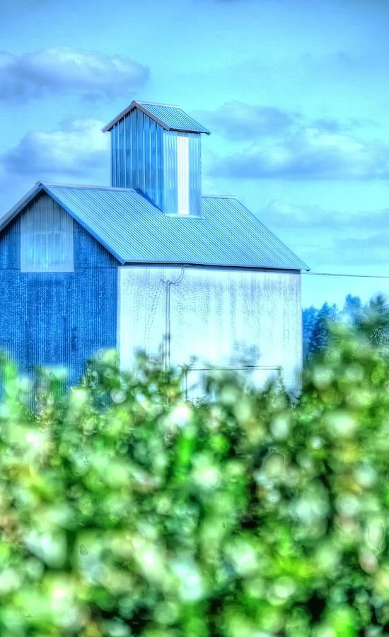 Grain Elevator And Vineyard 17015 Photograph