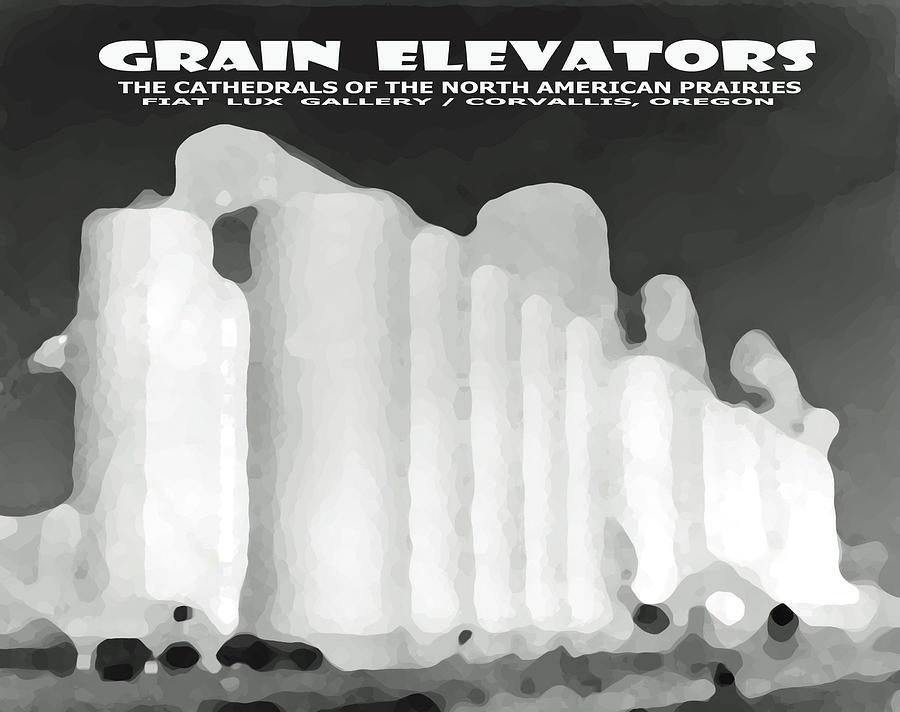 Grain Elevators Digital Art - Grain Elevators Sacramento Valley California by Michael Moore