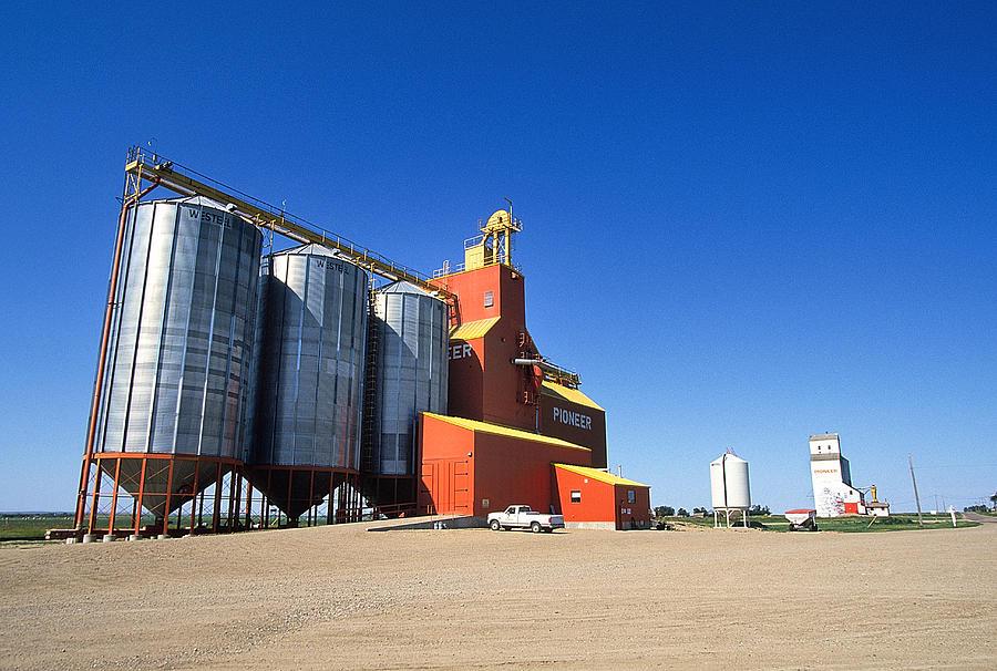 Grain Photograph - Grain Silos Saskatchewan by Buddy Mays