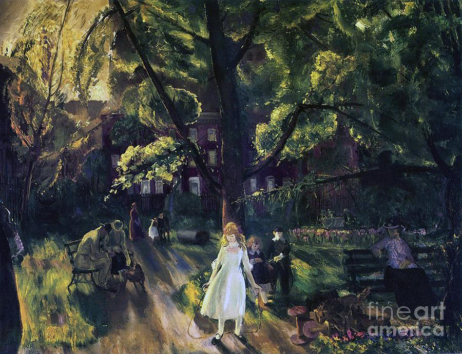 Gramercy Park Painting by George Wesley Bellows