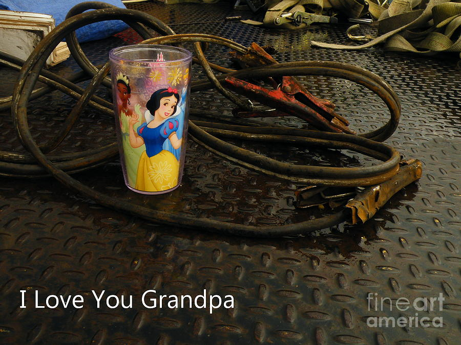 Jumper Cables Photograph - Gramps Cup by Joe Jake Pratt