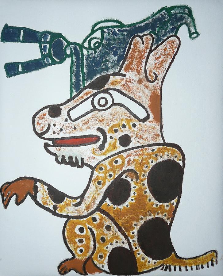 Mayan Jaguar Painting - Gran Jaguar Iv by Juan Francisco Zeledon