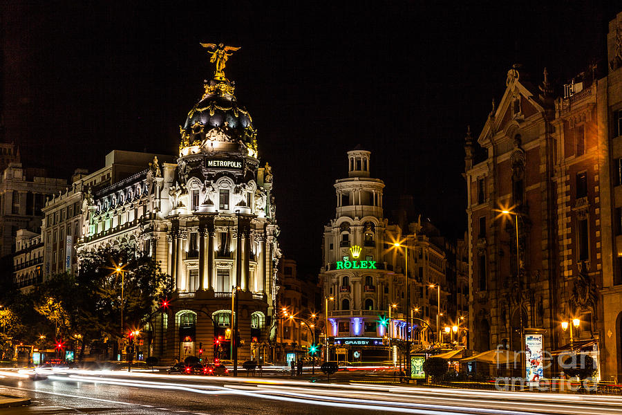 Gran Via Photograph by Eugenio Moya