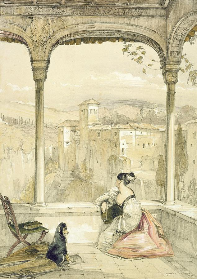 Arch Drawing - Granada , Plate 9 From Sketches by John Frederick Lewis