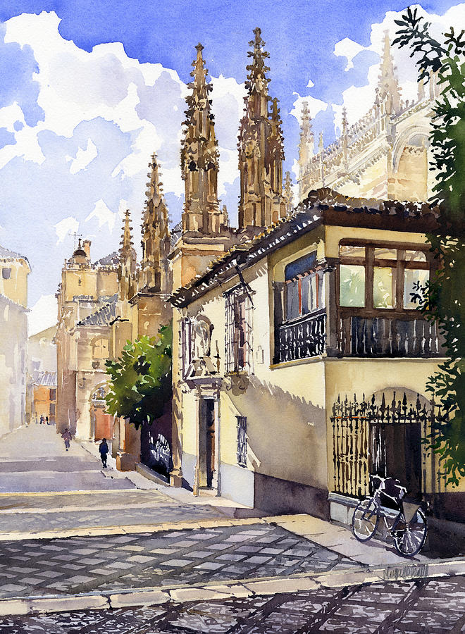 Spain Painting - Granada Cathedral by Margaret Merry