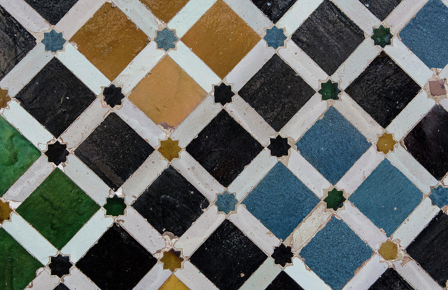 Alhambra Photograph - Granada, Spain, Alhambra, Gardens by Bill Bachmann