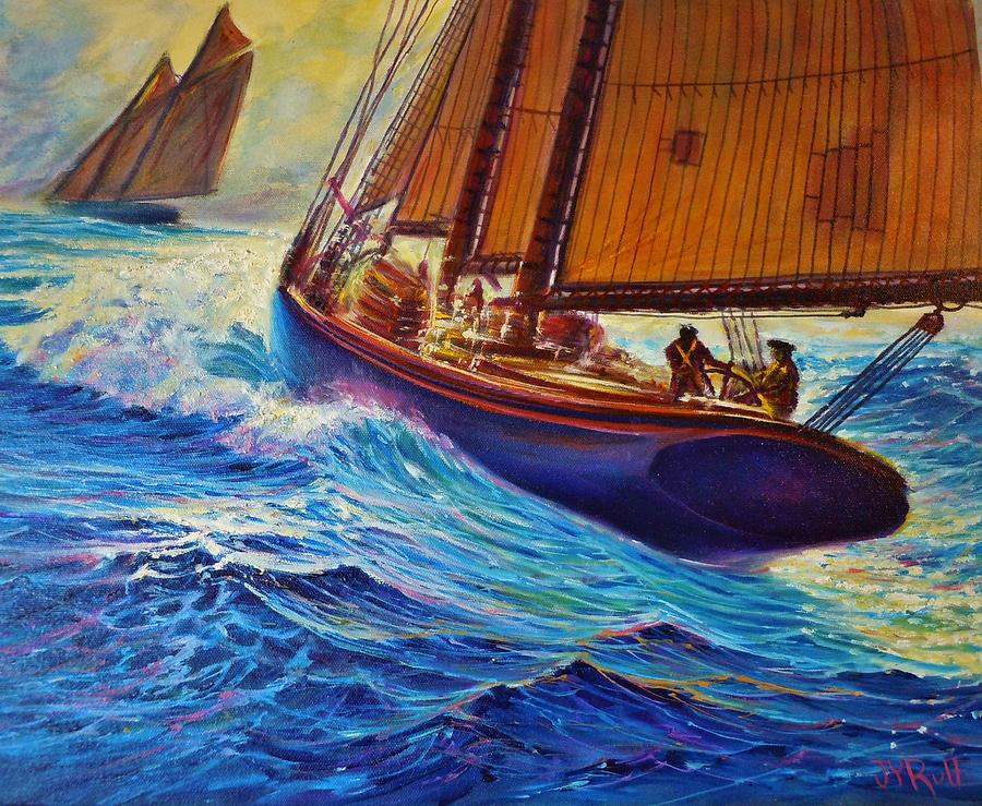 Grand Banks Fishermen Painting by Joseph   Ruff