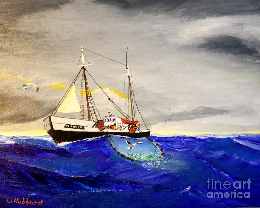 Grand Banks Painting - Superior On The Grands Banks Of Newfoundland by Bill Hubbard