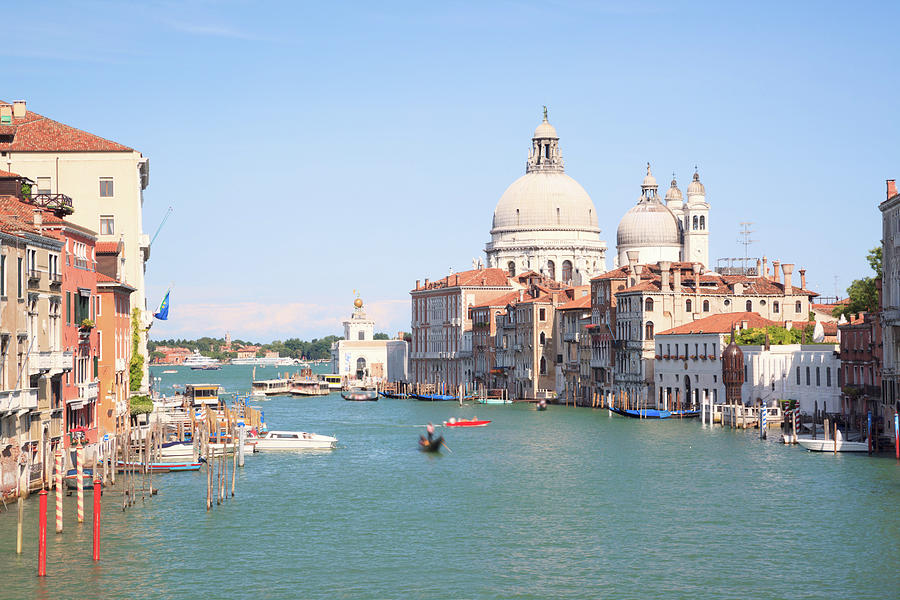 Grand Canal And Salute Cathedral In Photograph by Matteo Colombo