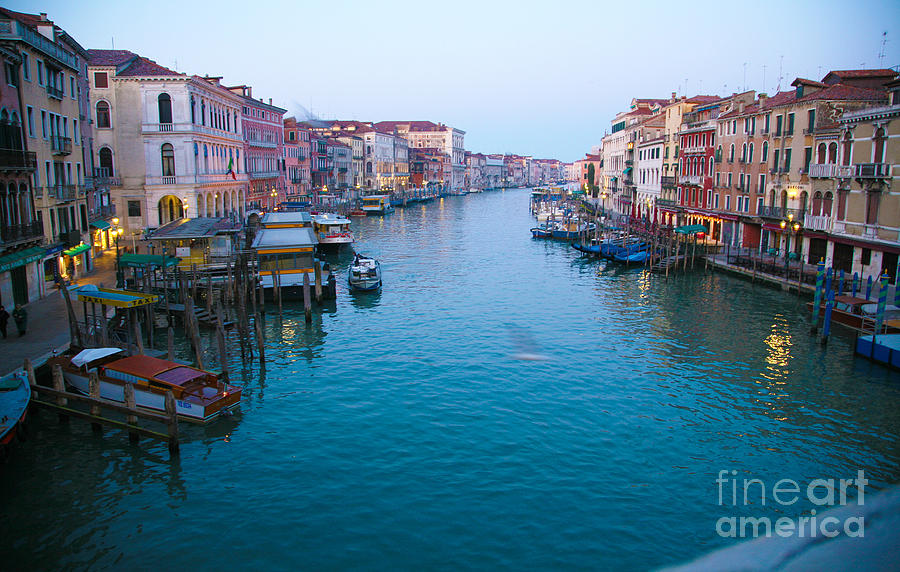 Venice Photograph - Grand Canal At Sunrise by Ave Guevara