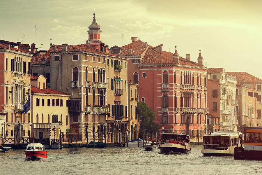 Grand Canal Of Venice At Sunset Photograph by Mammuth