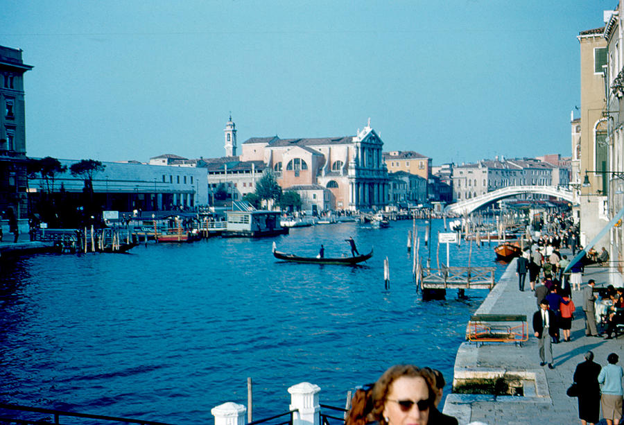 Grand Canal Photograph - Grand Canal Venice 1961 by Cumberland Warden