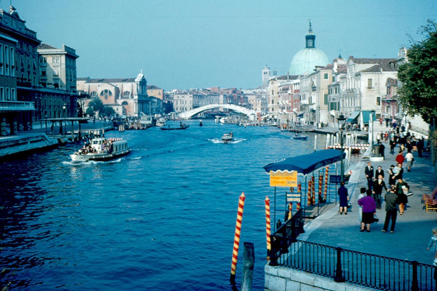 Grand Canal Photograph - Grand Canal 1961 by Cumberland Warden