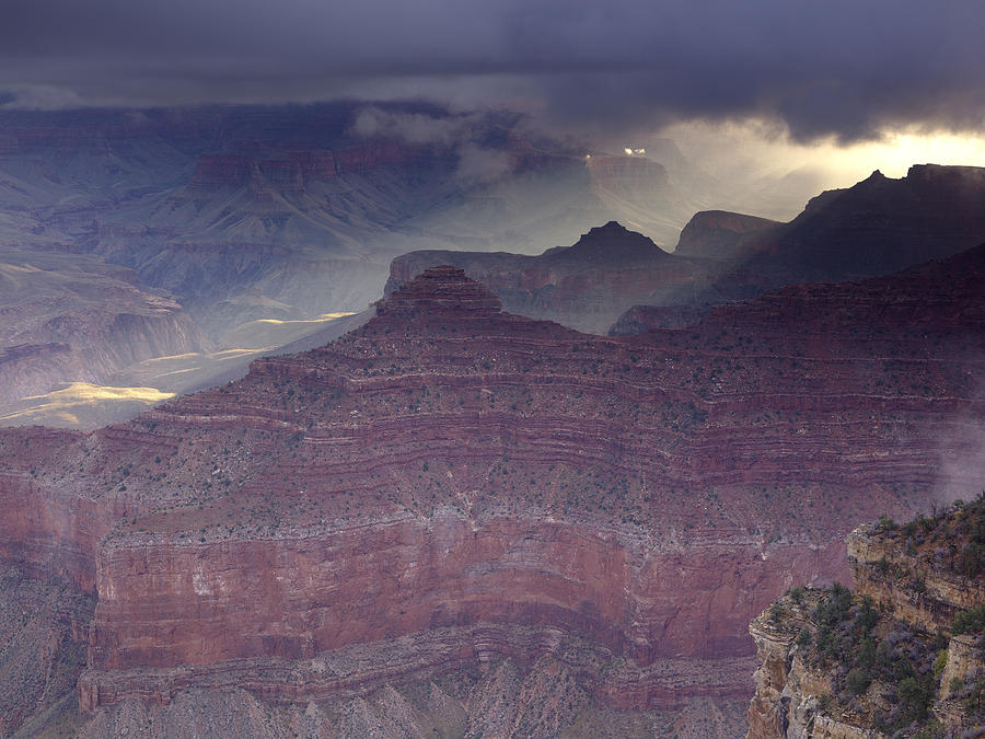 Canyon National Park Photograph - Grand Canyon - Clearing Storm by Richard Berry