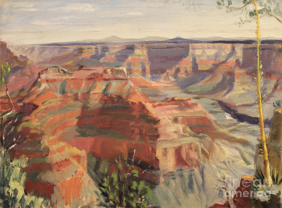 Grand Canyon - North Rim 1947 by Art By Tolpo Collection