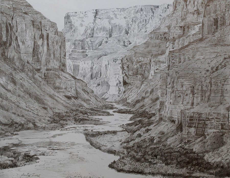 Grand Canyon Drawing By Andre Tutak