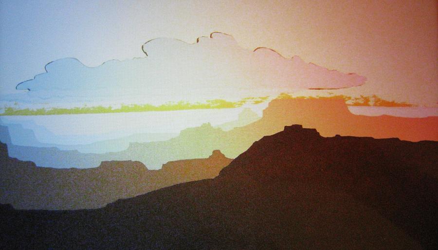 Originals Painting - Grand Canyon by John  Svenson