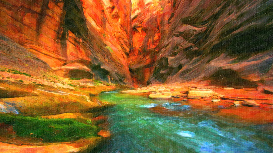 Grand Canyon Painting - Grand Canyon by MotionAge Designs