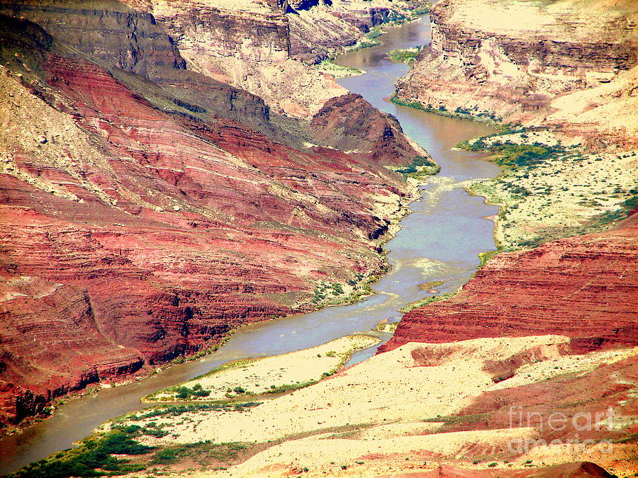 Grand Canyon Photograph - Grand Canyon River View by John Potts