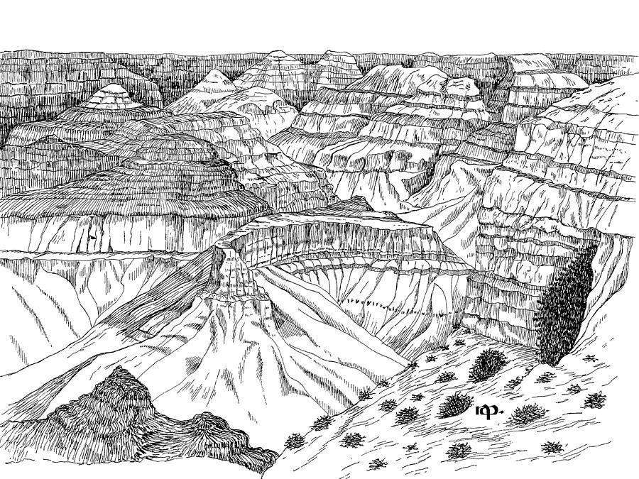 Grand Canyon Drawing by Robert Powell