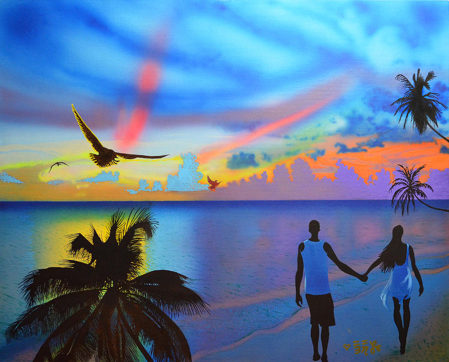 Grand Cayman Painting - Grand Cayman Islanders by Ebenlo - Painter Of Song