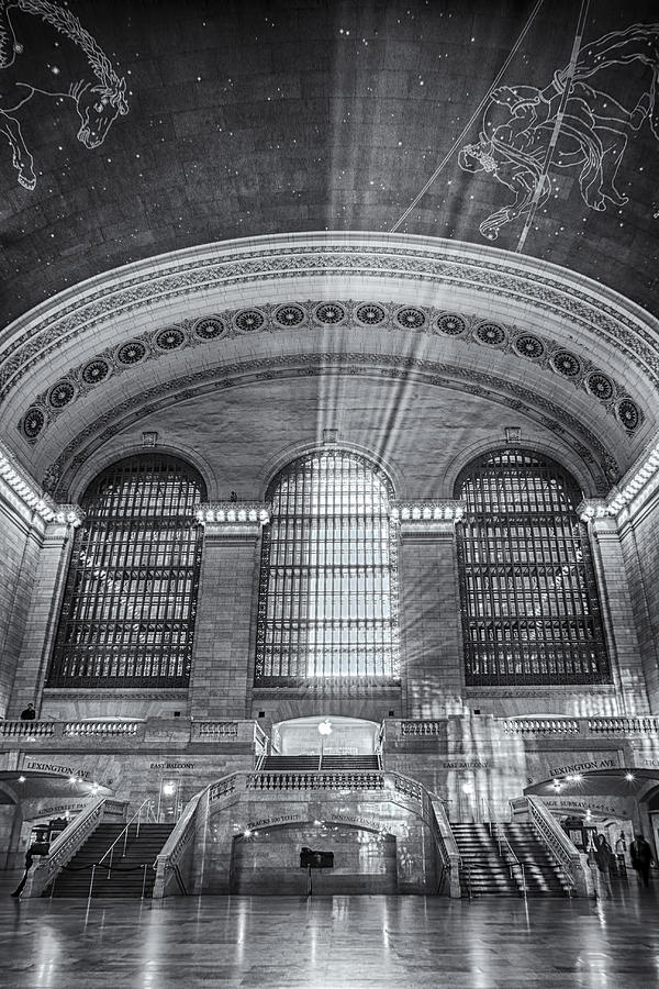 Grand Central Photograph - Grand Central Station Bw by Susan Candelario
