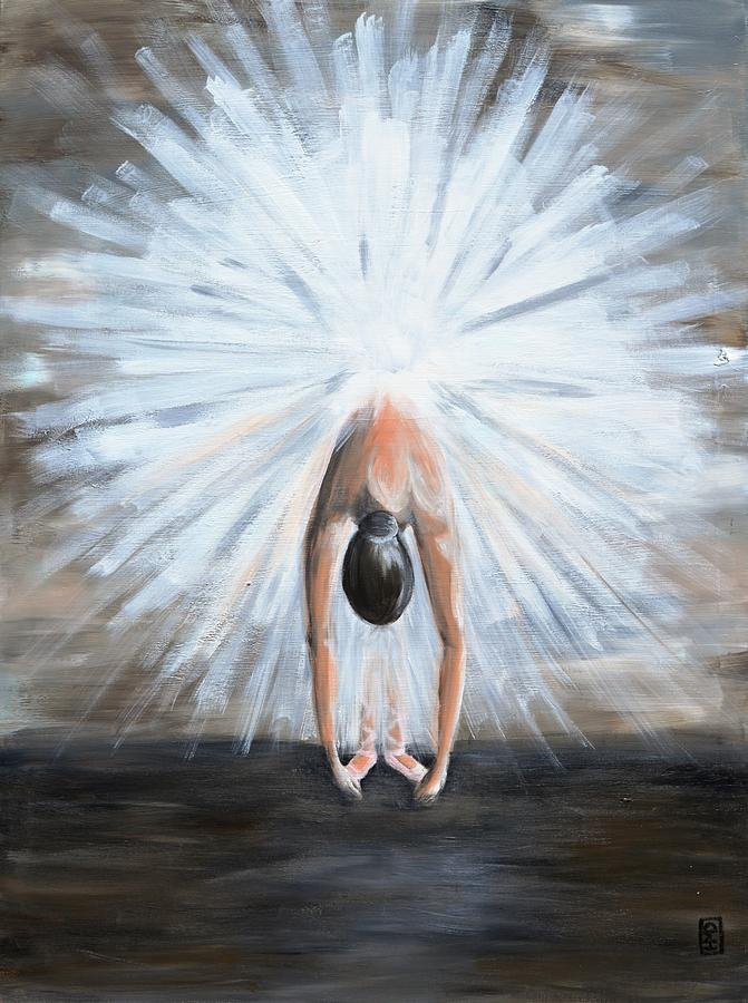 Ballerina Painting - Grand Finale by Holly Donohoe