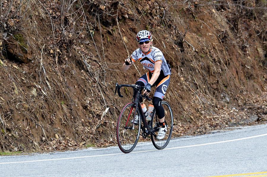 Sport Photograph - Grand Fondo Bike Ride by Susan Leggett