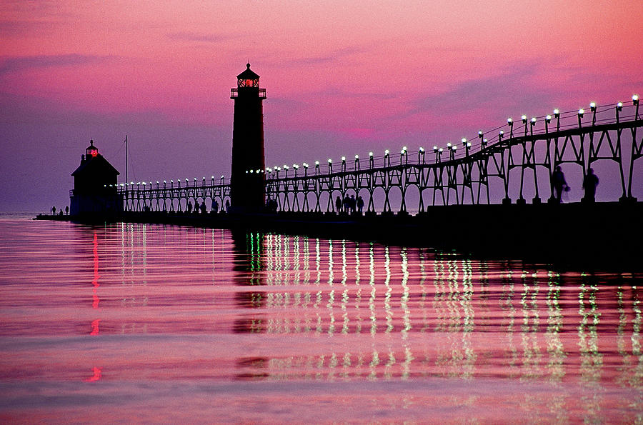 Grand Haven Photograph - Grand Haven Light by Dennis Cox WorldViews