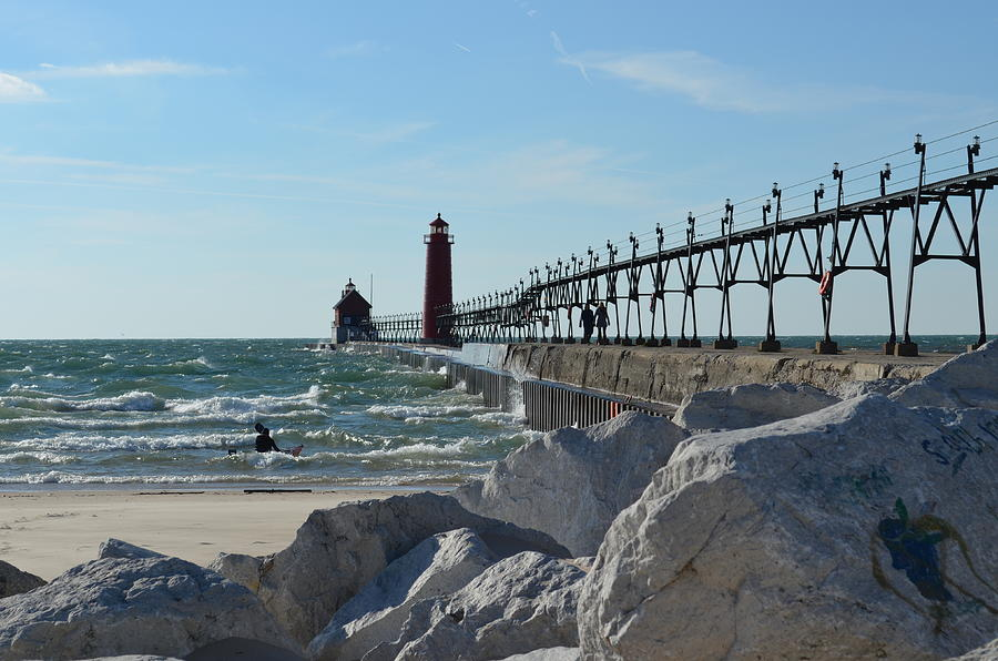 Lighthouses Photograph - Grand Haven Lighthouse by Jennifer  King