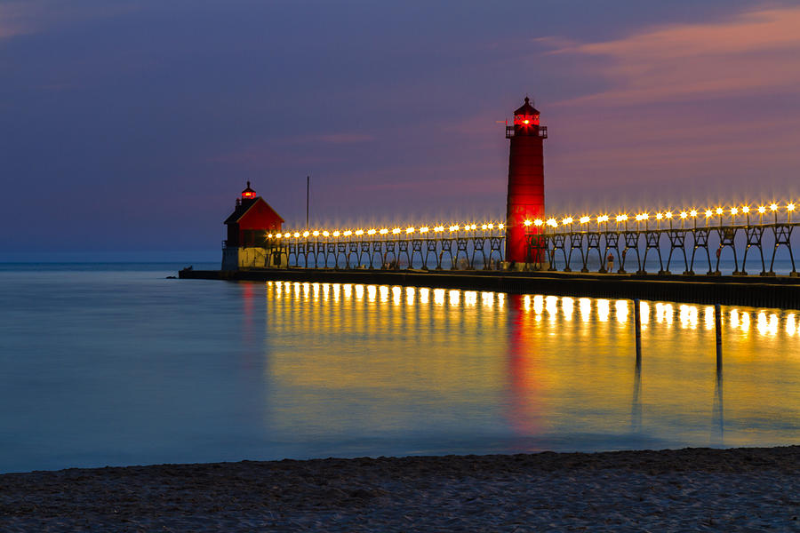 Grand Haven South Pier Lighthouse Photograph By Jack R Perry