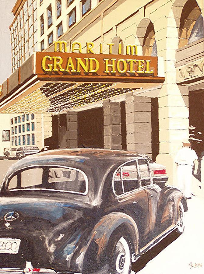 Berlin Painting - Grand Hotel East Berlin Germany by Paul Guyer