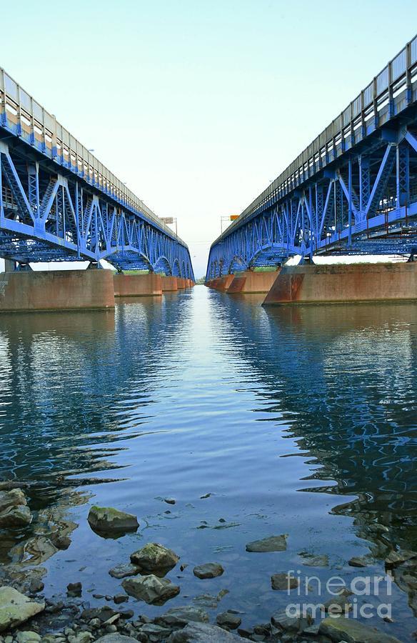 Grand Photograph - Grand Island Bridges by Kathleen Struckle